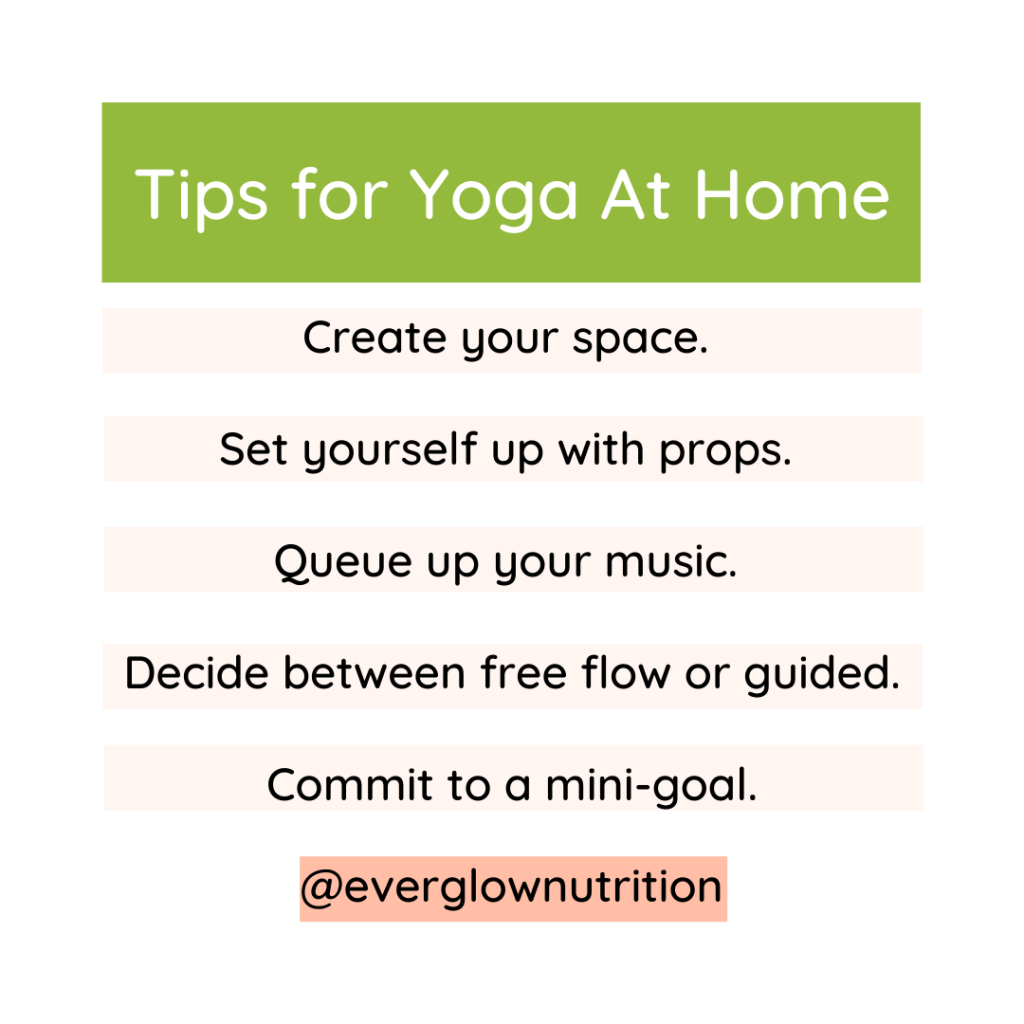 Tips for Yoga At Home