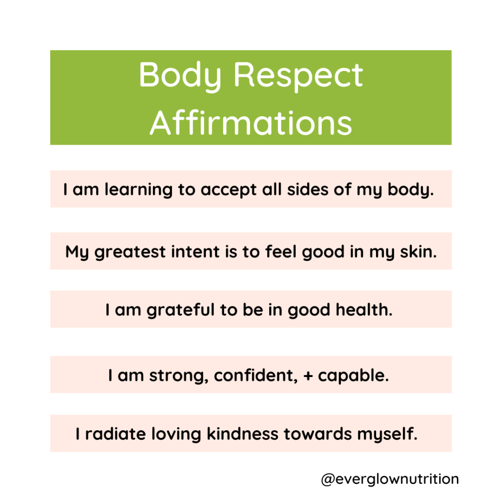 body respect affirmations