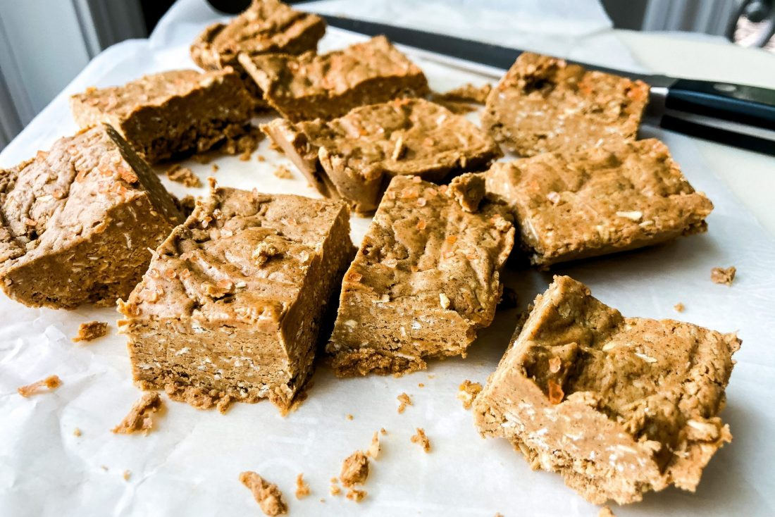 no-bake mocha protein squares