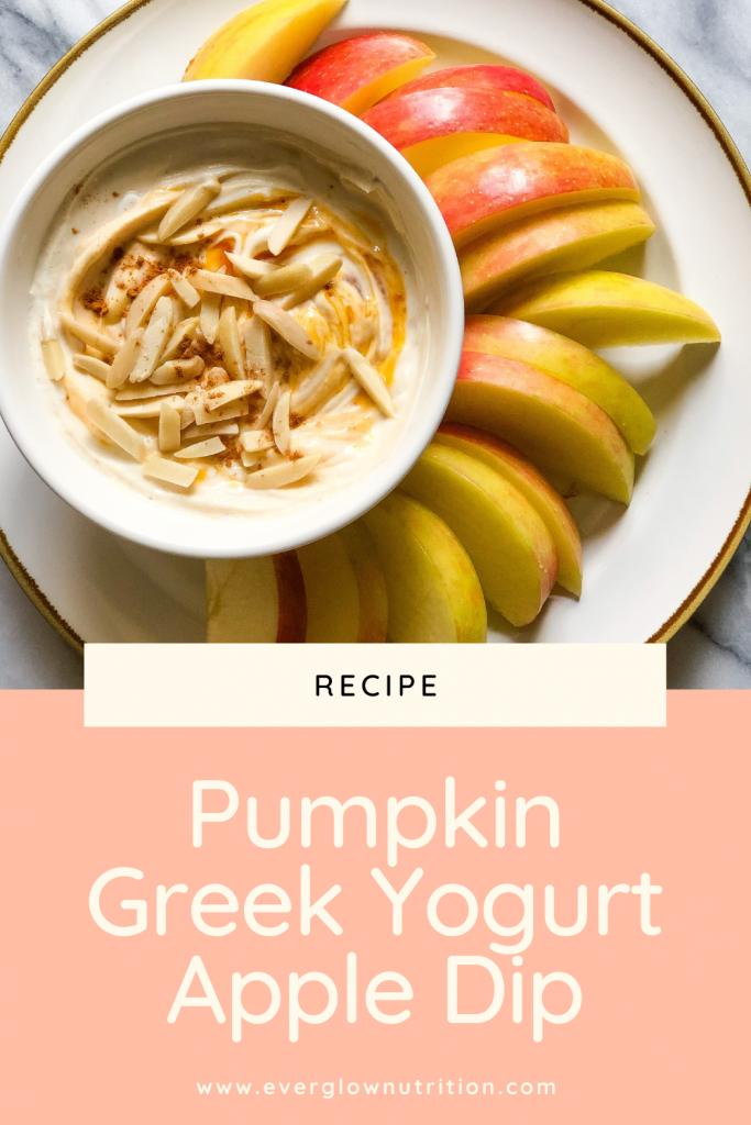 Pumpkin Greek Yogurt Apple Dip