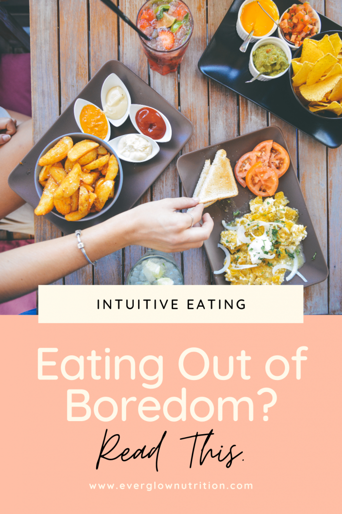 eating out of boredom