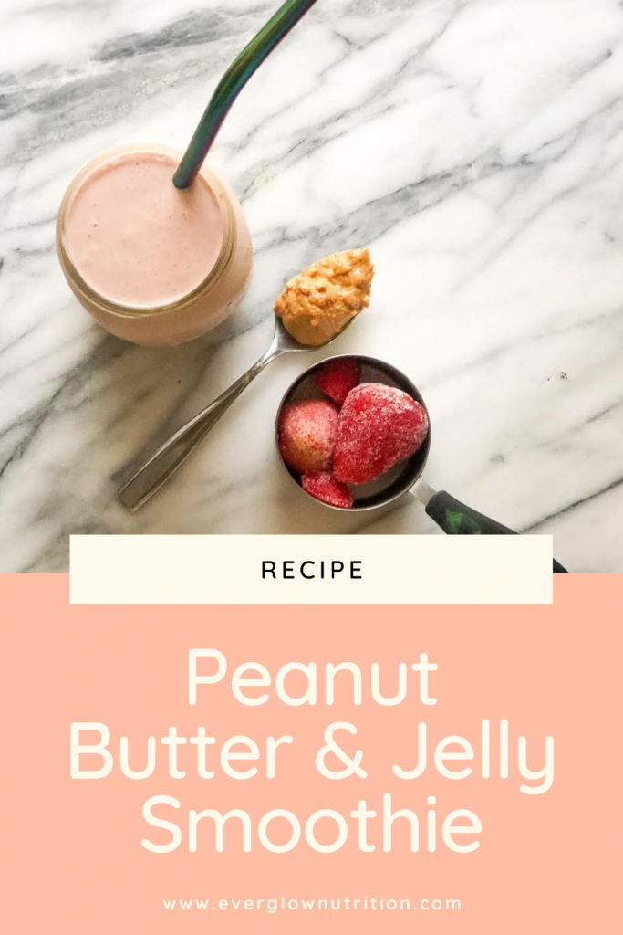 peanut butter jelly smoothie