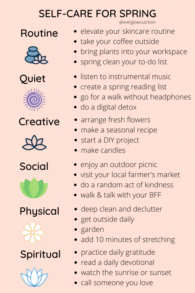 self-care for spring