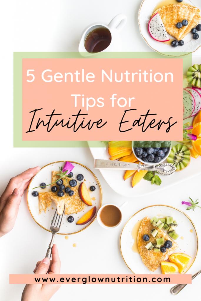 gentle nutrition tips