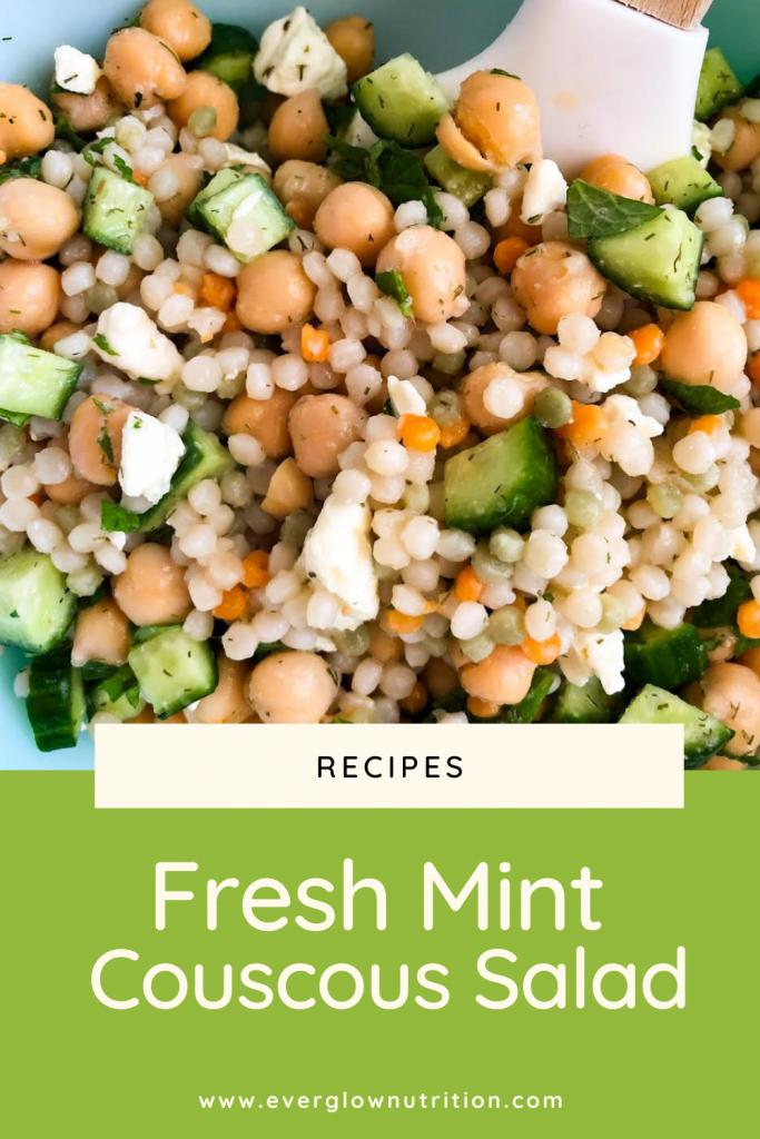 fresh mint couscous salad