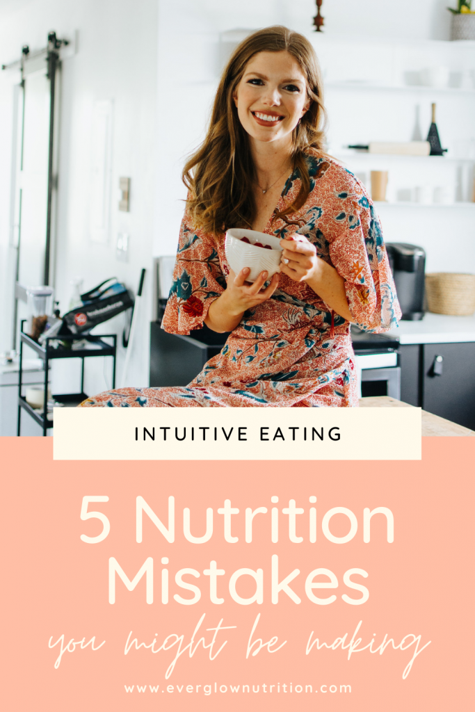 5 nutrition mistakes