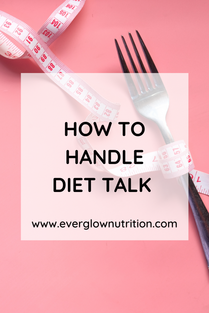 how to handle diet talk