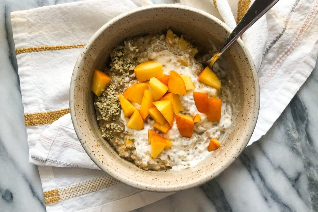 peaches cream oatmeal