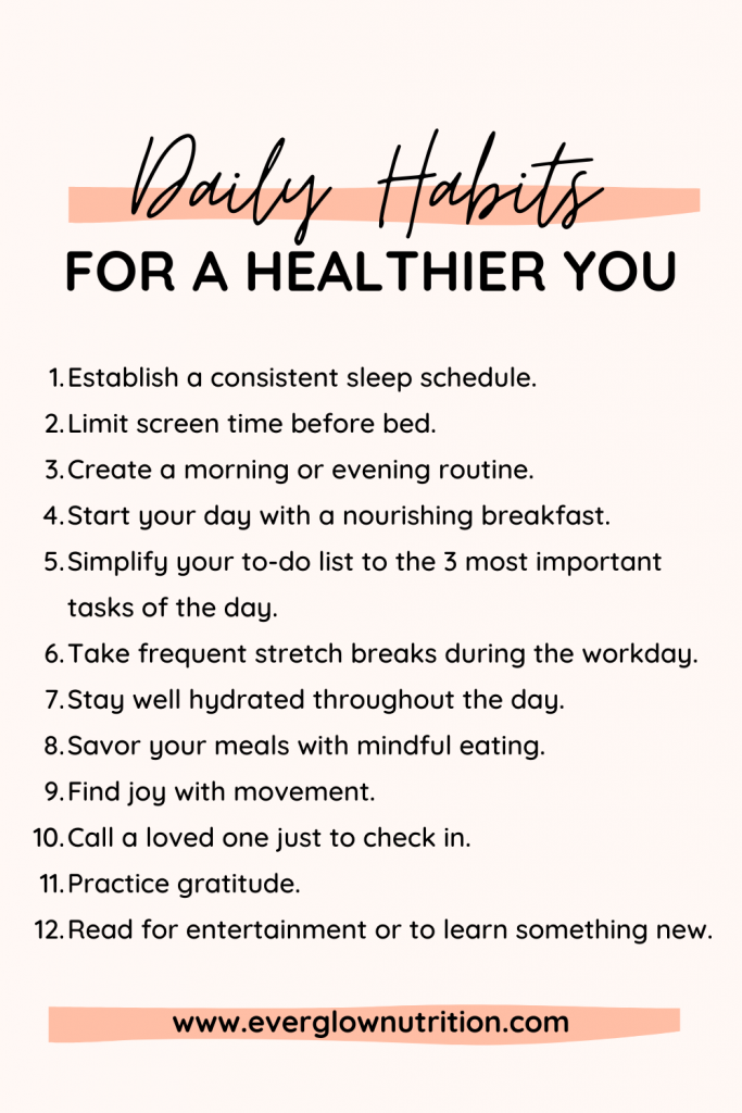 daily habits healthier you